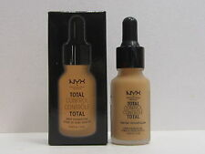 NYX Total Control Drop Foundation color TCDF12 Classic Tan 0.43 oz New In Box