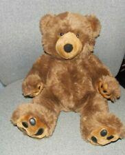 "Build A Bear Workshop Brown Bear Fuzzy Furry with pawprints stuffed plush 17"""