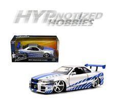 JADA 1:24 FAST AND FURIOUS BRIAN'S NISSAN SKYLINE GT-R R34 SILVER 97158