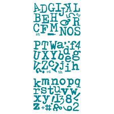 Screen Sensation Copperplate Gothic Alphabet Stamp Collection 442166 - 72 Stamps