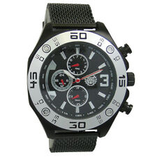 Mens Watch Large Dial Mesh Bracelet Band Multifunction Relojes Hombre Cheap Big