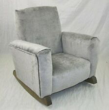 New Children's Upholstered Rocking Chair Gray Toddle Rock for Kid