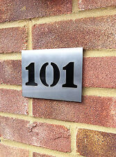 House Number Plaques- Stainless Steel, Modern, Porch, Door, Custom Made To Order