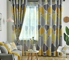 Geometric Curtains Screen For Living Room Bedroom Modern Window Drapes Shade New