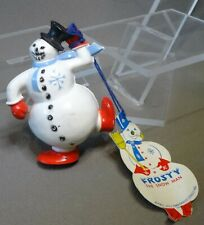 vintage Frosty the Snowman 1951 Plastic figure Tag Musical part Sears & Roebuck