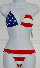 Polo Ralph Lauren American Flag Bikini Two Piece Swimsuit Sz S Stars Striped K15