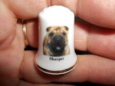 vintage SHAR PEI SHARPEI Dog Collectible ceramic Thimble figurine Lim.Edition