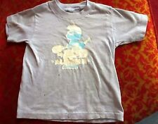 XS 3-4 True Vtg 70s Boys TRASHED TENNIS SMURF T-SHIRT USA