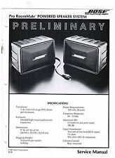 Original BOSE Room Mate Powered Speaker System Preliminary  service manual