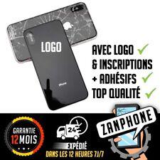 iPhone X VITRE FAÇADE CACHE BATTERIE ARRIÈRE + ADHÉSIF NOIR BACK COVER
