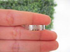 White Gold Mens Wedding Ring 14k WR84 sep