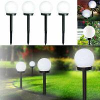 4 PCS Solar LED Ground Light Ball Lamp Outdoor Garden Yard Path Decor Waterproof