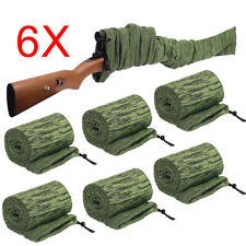 6Pcs 54'' Gun Sock Rifle Shotgun Green Gun Socks Hunting Storage Case Pouch Bags