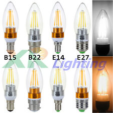 Edison B15 B12 E14 E27 2W 4W 6W Filament COB LED Chandelier Candle Light Bulb