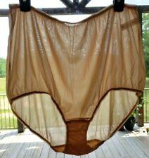 "Vtg Granny Panties Briefs sz 2X / 10 Plus Light Tan 38"" Sissy"