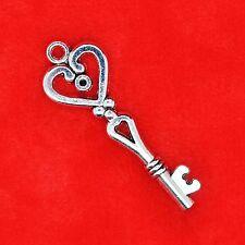 5 x Tibetan Silver Vintage Key Type 12 Charm Pendant Jewellery Making