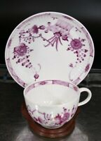 MEISSEN Marcolini Period Opulent Purple Cup and Saucer, RARE