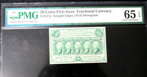 """1862-63 50 CENTS FRACTIONAL CURRENCY, FR-1312, PMG 65 EPQ """"GEM UNCIRCULATED"""""""