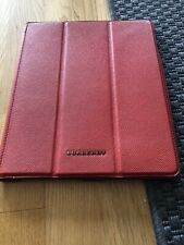 Genuine Burberry RED iPad Case leather