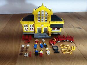 Lego 4554 Gelber Bahnhof Eisenbahn Bahn Town Metro Station für 9V Eisenbahn