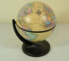 "2001 Replogle Mini Globe Desk Size 6 Inch Tall 3.5"" Base"