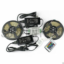 6in1 RGB 10M 5050 600 LED Strip Light Waterproof+Amplifier+Power+24Keys Remote