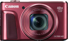 Canon - PowerShot SX720 HS 20.3-Megapixel Digital Camera - Red