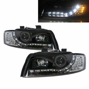 A4 A4/S4 B6 8E 01-05 Sedan/Wagon Projector R8Look Headlight Black for AUDI LHD