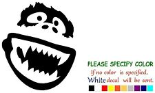 "Abominable Snowman Yeti Funny Vinyl Decal Sticker Car Window laptop truck 6"""