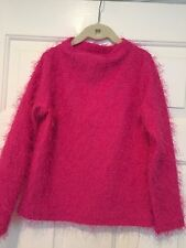 Flapdoodles Pink Fuzzy Long Sleeve Sweater – Girls Size 8