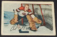 "1952-1953 - PARKHURST EDWIN ""AL"" ROLLINS CHICAGO BLACKHAWKS NHL HOCKEY CARD #31"