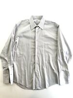 Men's Brooks Brothers Gray French Cuff Dress Shirt Regular Fit Size 16-33