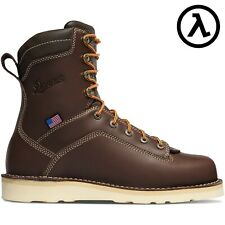 "DANNER® QUARRY USA 8"" BROWN WATERPROOF WORK BOOTS 17327 - ALL SIZES - NEW"