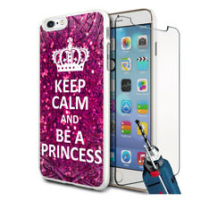 Be A Princess Design Hard Case Cover & Glass For Various Mobiles