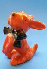Vintage Orange Westie Terrier Dog Sitting Up Collectible Figurine Made in Japan