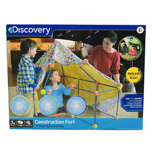 Discovery Kids 72 Piece Construction Fort Build & Play Educational Set