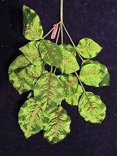 Vintage Millinery Flower Leaf Green Satiny  for Hat Bridal + Hair NV7