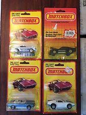 matchbox Superfast 4x Very Rare Versionen in Blistercard never open mint 1980-83