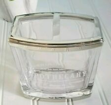 Bella Lux DR. H. GNADENDOFF APOTHECARY Glass Brush Holder  SILVER TRIM