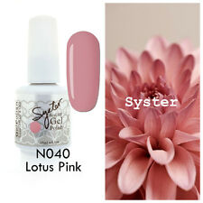 SYSTER 15ml Nail Art Soak Off Color UV Lamp Gel Polish N040 - Lotus Pink