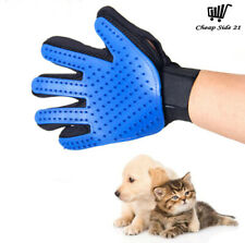 Pet Grooming Gloves Blue Cats Dogs Brush Hair Remover Cleaning Comb Right Hand
