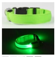 USB Rechargable LED Dog Pet Collar Flashing Luminous Safety Light Up Adjustable