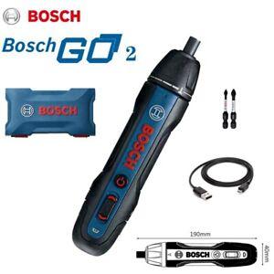 Bosch Go 2 Smart Cordless Screwdriver 3.6V Electric Screw USB Tool 2 Bits Cable@