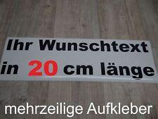 Wunschtext Aufkleber Auto Domain Beschriftung Schriftzug 20cm mehrzeilig !