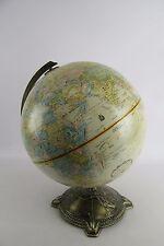 "Globemaster 12"" Repogle Raised Relief Globe Nautical Brass Base"