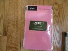 Ralph Lauren Pillow Cases 300 Thread Count Cotton Sateen King Raspberry New !