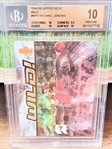 Michael Jordan 1999-00 Upper Deck WILD! insert BGS 10 Pristine POP 1
