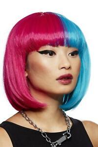 Manic Panic Blue Valentine Glam Doll Wig Heat Styleable Ladies Bob Wig Fancy Dre