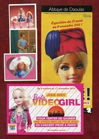 Lot Documents Barbie - (1993/2013) - Club - Panini - Flyer - Pochette