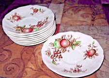 """Johnson Bros. """"Harvest Time"""" Saucers - Made in England set of eight"""